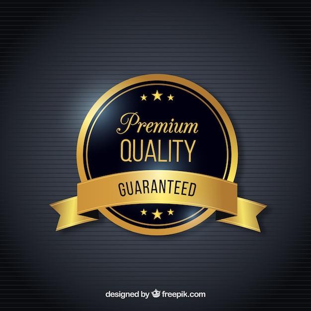 Qualitätssiegel mit backgroud Kostenlosen Vektoren