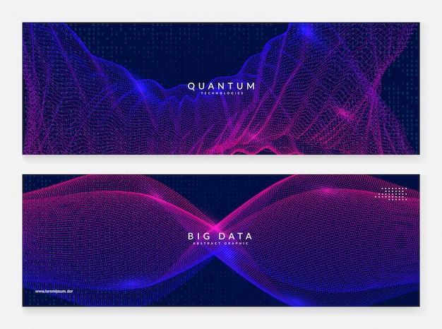Quanteninnovations-computerhintergrund Premium Vektoren