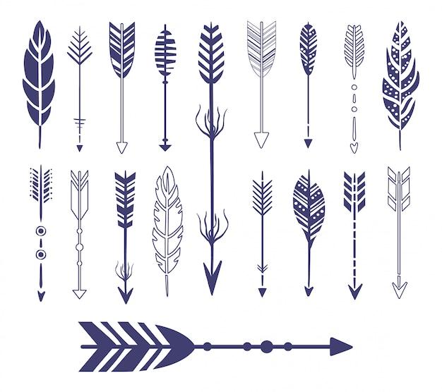 Quills and arrows graphic collection Premium Vektoren