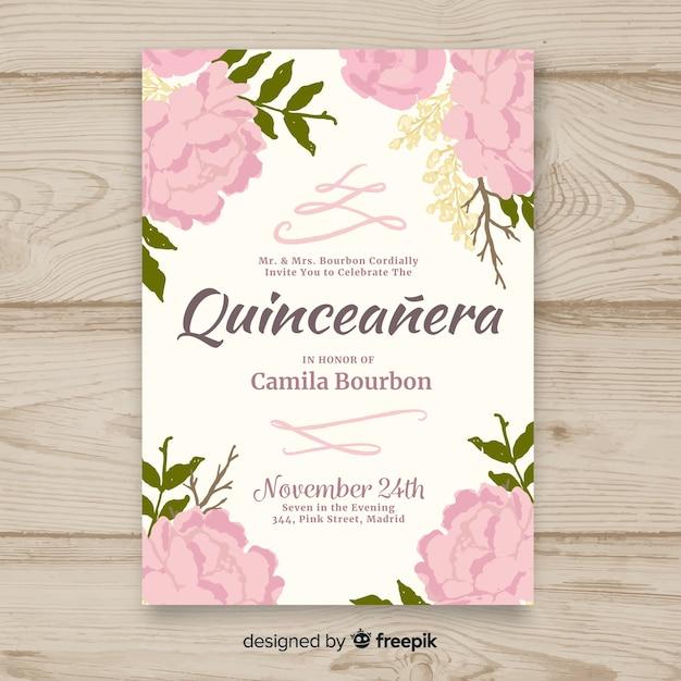 Quinceañera party einladung Kostenlosen Vektoren