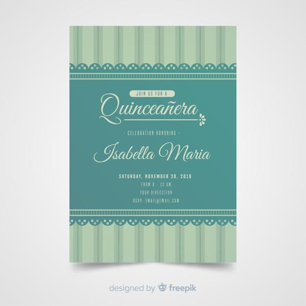 Quinceanera spitze einladungsvorlage Kostenlosen Vektoren