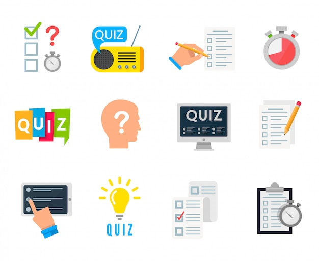 Quiz-spiel-symbol Premium Vektoren