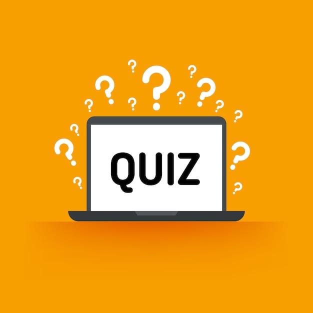 Quiz Premium Vektoren