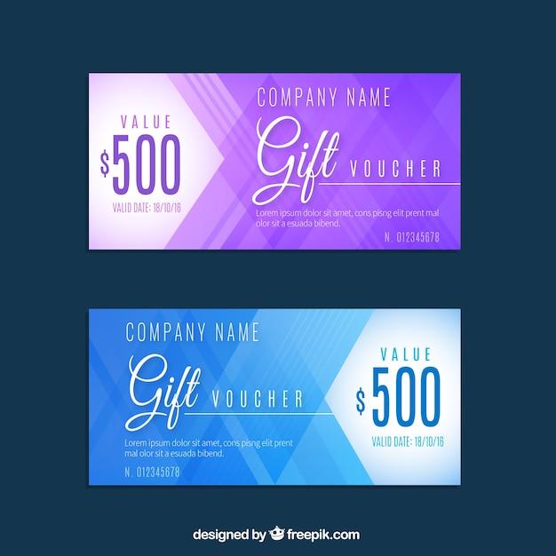 Rabatt-coupons in abstrakten design Kostenlosen Vektoren