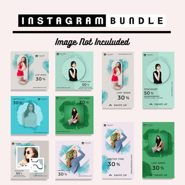 Rabatt instagram poststories mode vorlage Premium Vektoren