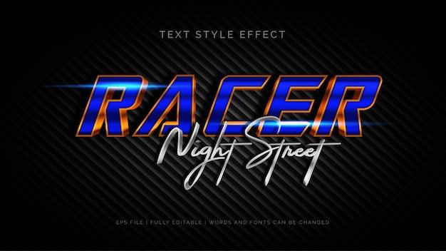 Racer text style effekt Premium Vektoren