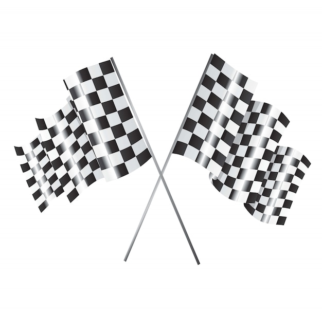 Racing flagge Premium Vektoren