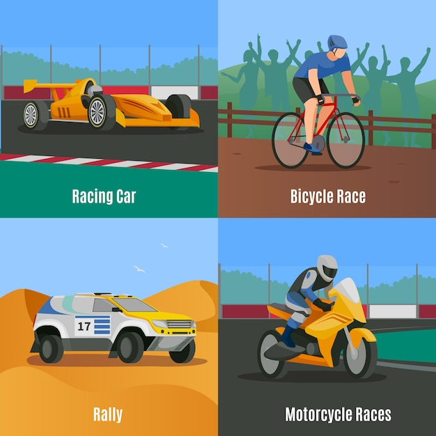 Racing flat Kostenlosen Vektoren