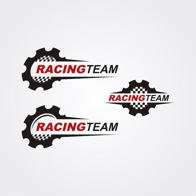 Racing team-logo-sammlung Premium Vektoren