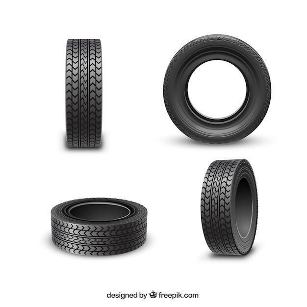 Räder Reifen Premium Vektoren