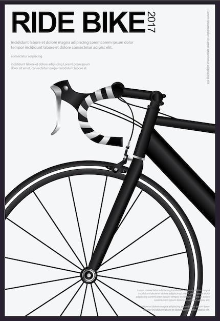 Radfahren poster-vektor-illustration Premium Vektoren