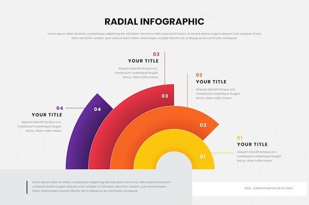 Radiale infografik-sammlung Premium Vektoren