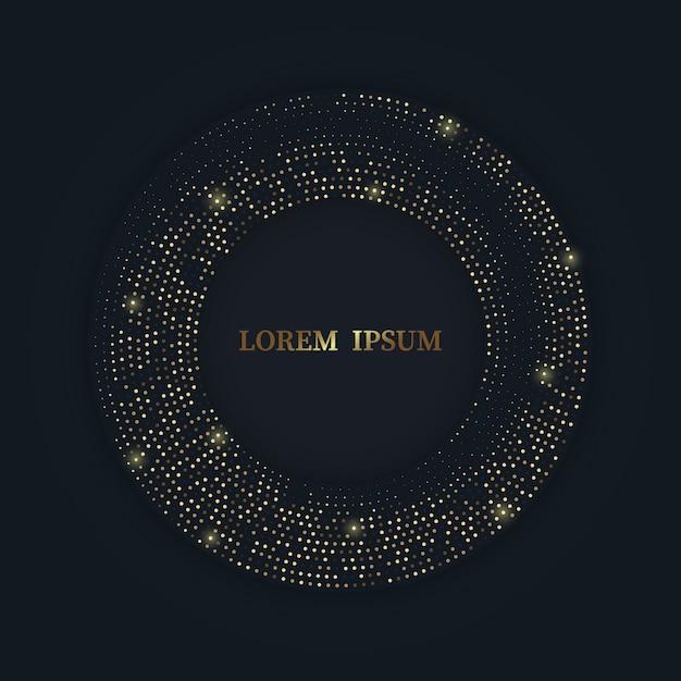 Radiales goldenes halbtonmuster, goldener luxushintergrund Premium Vektoren