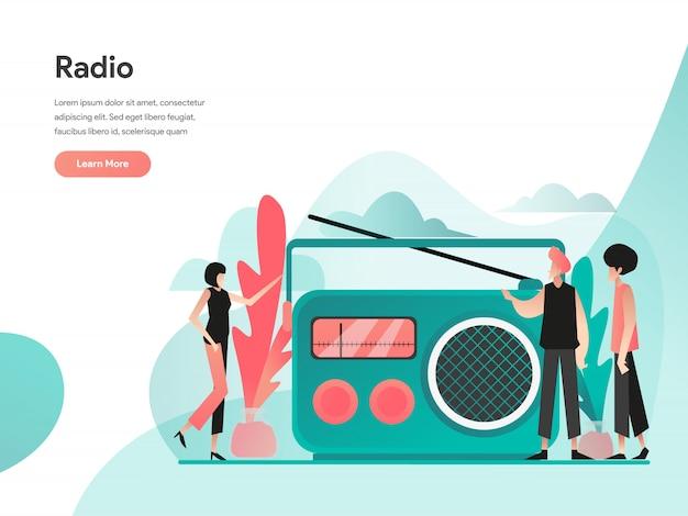 Radio illustration konzept Premium Vektoren