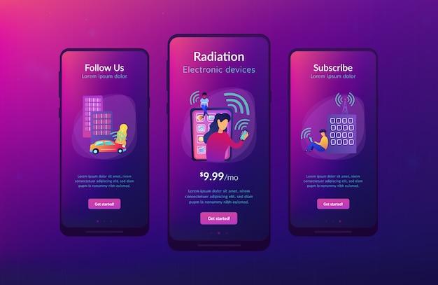 Radiofelder beeinflussen die app-interface-vorlage. Premium Vektoren