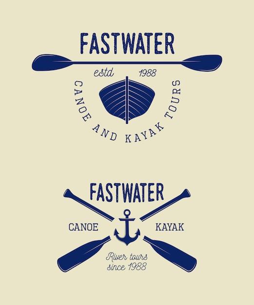 Rafting-logo Premium Vektoren