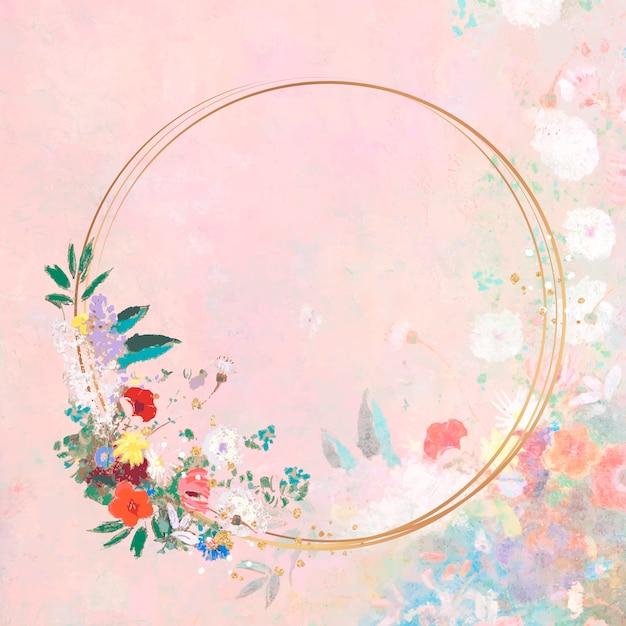 Rahmen auf einem pastell-kunstwerk Kostenlosen Vektoren