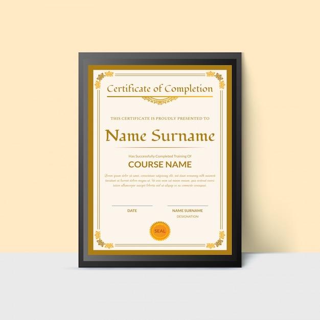 Rahmen Form Zertifikat der Abschluss-Award-Vorlage. | Download der ...