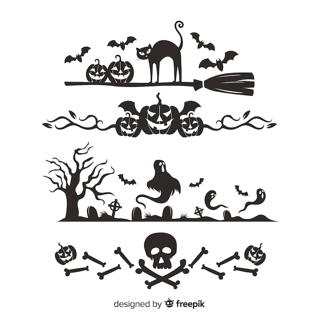 Rahmen für halloween Kostenlosen Vektoren