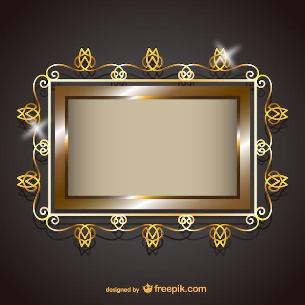 rahmen mit goldenen ornamenten download der kostenlosen vektor. Black Bedroom Furniture Sets. Home Design Ideas
