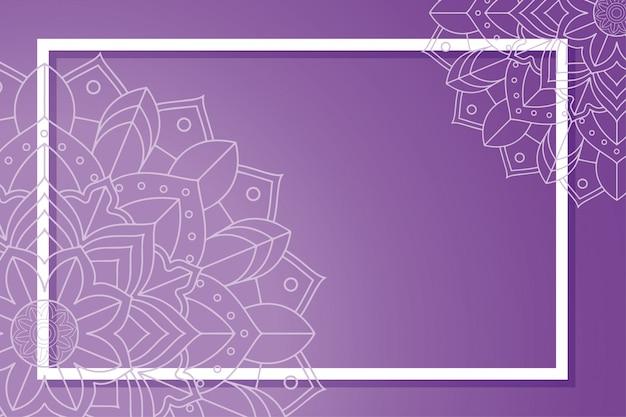Rahmen mit mandala-dekorationen Kostenlosen Vektoren