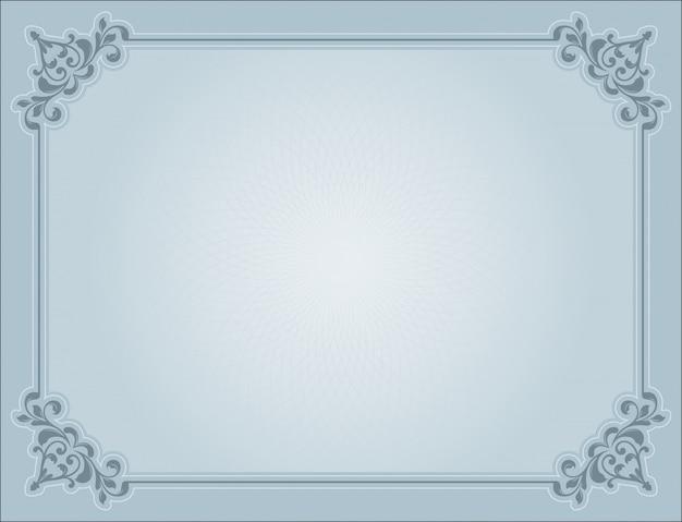 Rahmen mit vintage-dekoration Kostenlosen Vektoren