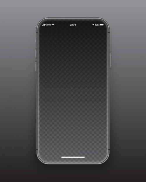 Rahmenloses smartphone-bildschirmmodell Premium Vektoren