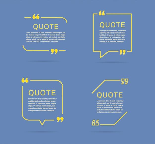 Rahmenvorlagen zitieren. Premium Vektoren