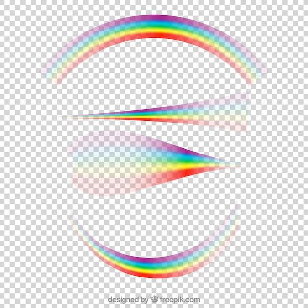Rainbows sammlung in verschiedenen formen Kostenlosen Vektoren
