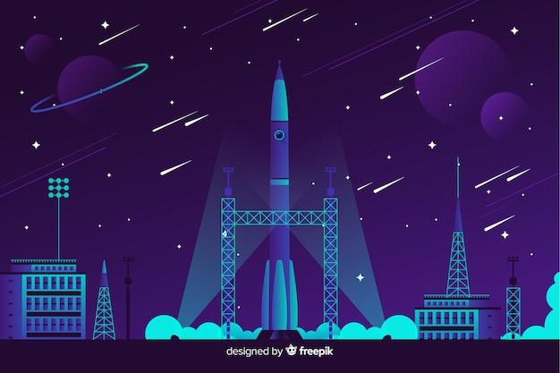 Rakete hintergrund abheben Kostenlosen Vektoren
