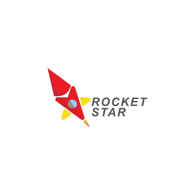 Rakete und sternzeichen. vorlagensymbol Premium Vektoren