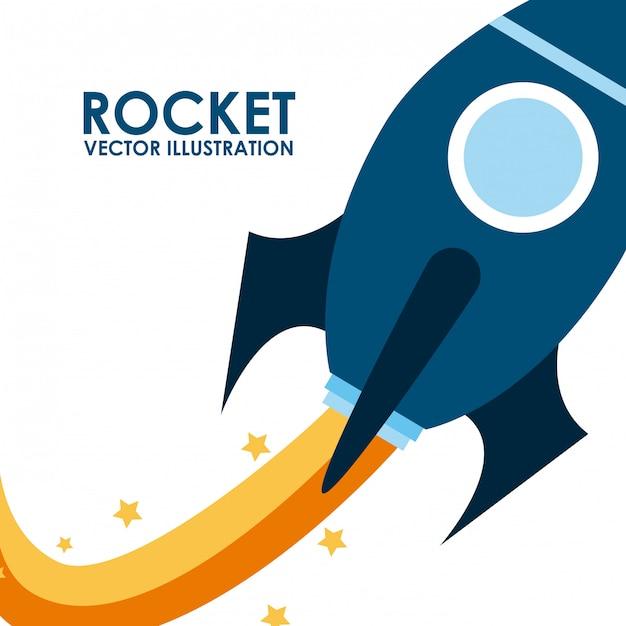 Raketenentwurf Premium Vektoren