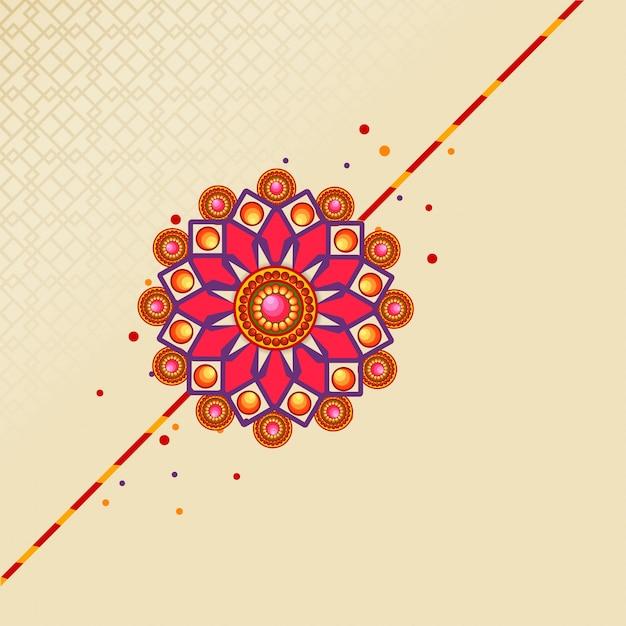 Raksha bandhan festival hintergrund verziert mit schönen rakhi. Kostenlosen Vektoren