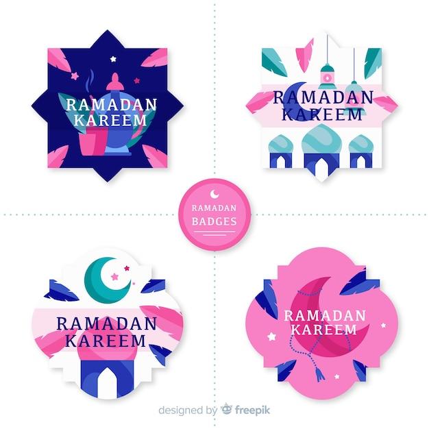 Ramadan abzeichen sammlung Kostenlosen Vektoren