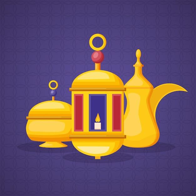 Ramadan-elemente Kostenlosen Vektoren