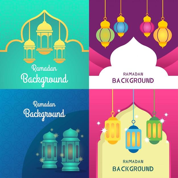 Ramadan hintergrund illustration Premium Vektoren
