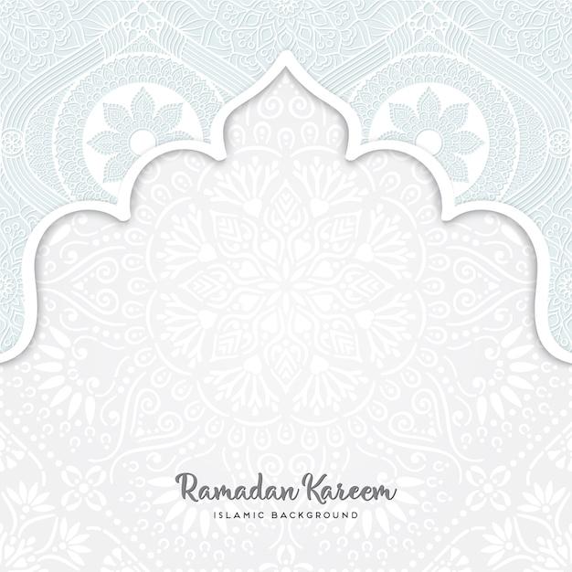 Ramadan kareem grußkarte Kostenlosen Vektoren