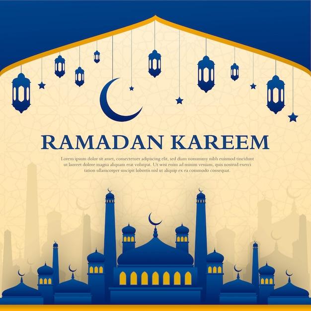 Ramadan kareem grußkarten-design Premium Vektoren