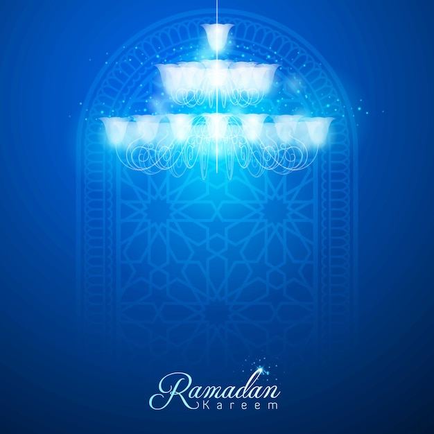 Ramadan kareem-grußkartenhintergrund Premium Vektoren