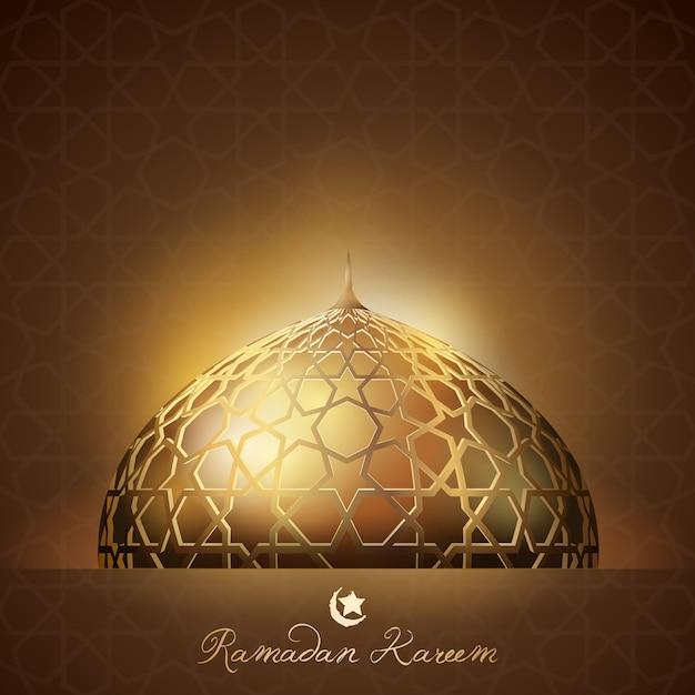 Ramadan kareem-hintergrundglühenlicht Premium Vektoren