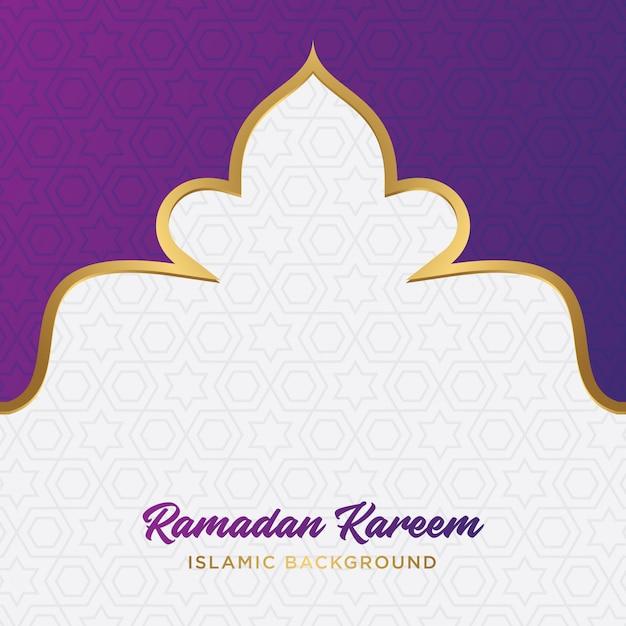 Ramadan kareem islamischer hintergrund Premium Vektoren