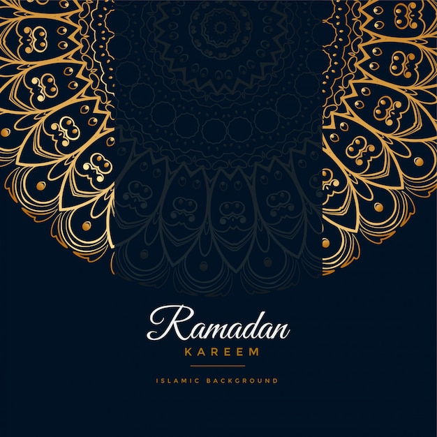 Ramadan kareem islamischer mandalamusterhintergrund Kostenlosen Vektoren