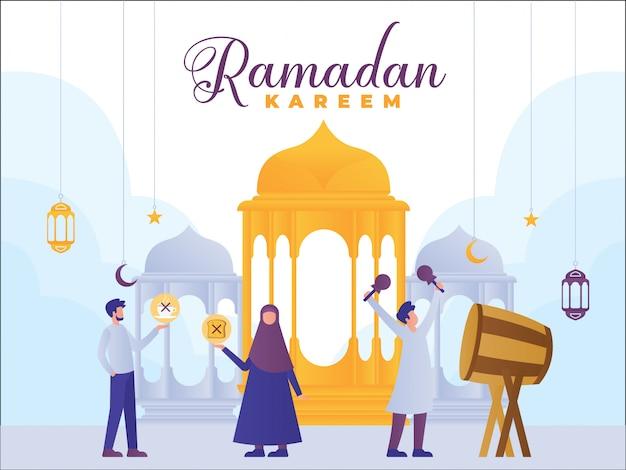 Ramadan kareem konzept banner Premium Vektoren