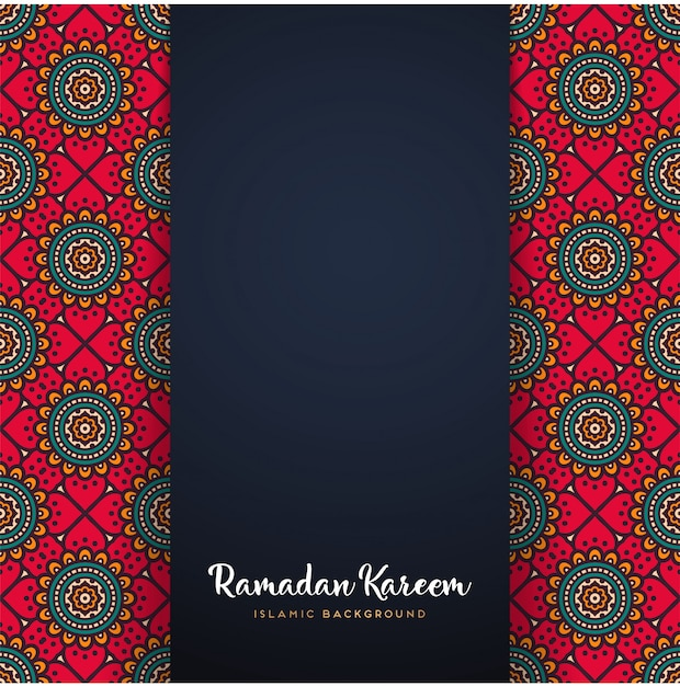 Ramadan kareem mandala motiv Kostenlosen Vektoren