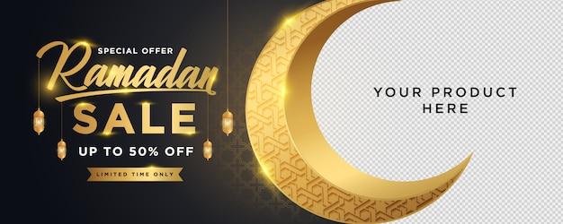 Ramadan kareem sales banner vorlage Premium Vektoren