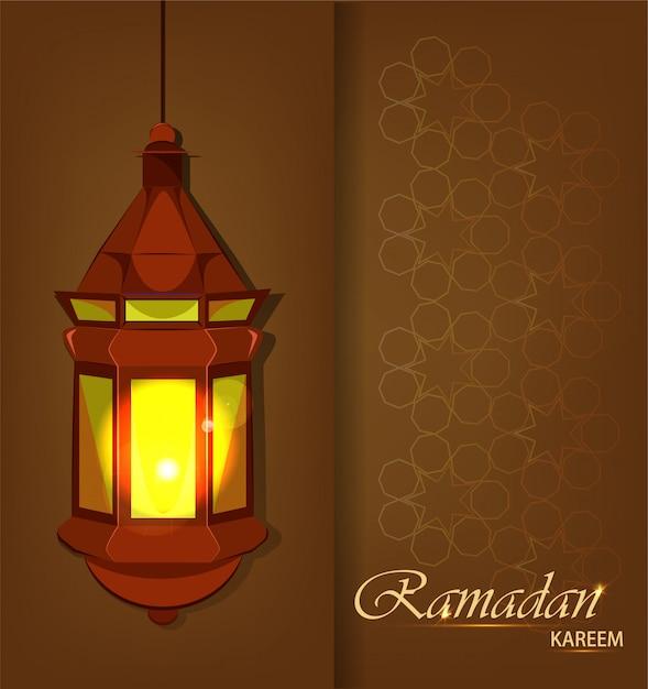 Ramadan kareem traditionelle arabische laterne Premium Vektoren