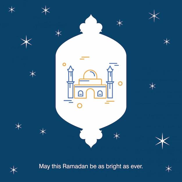 Ramadan kareem vector grußkartenhintergrund Kostenlosen Vektoren