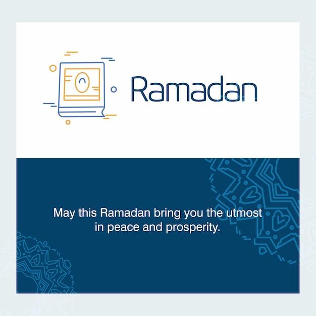 Ramadan kareem-vektor-gruß-karten-hintergrund Kostenlosen Vektoren