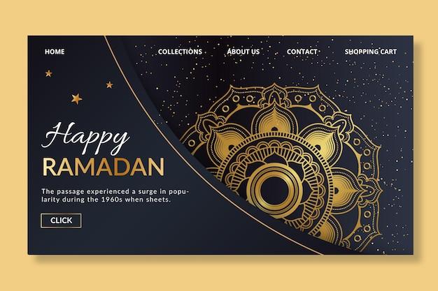 Ramadan landing page vorlage Kostenlosen Vektoren