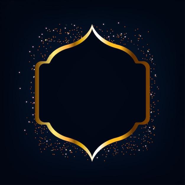 Ramadan mubarak gold glitter hintergrund Premium Vektoren